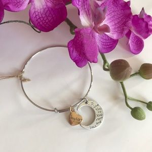 Silver & Gold Toned Daughter Charm Bracelet